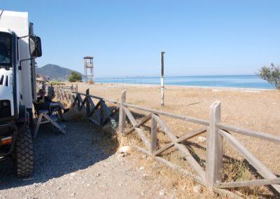 Übernachtungsplatz direkt am Meer