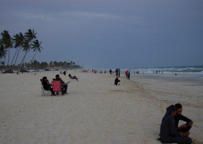An der Salalah-Beach ist abends einiges los