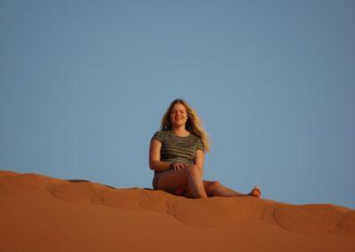 Ausruhen im feinen Sand der Dünenlandschaft