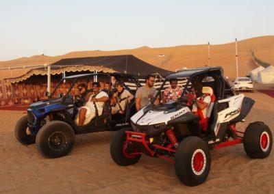 Bereit für die abendliche Ausfahrt mit den Buggys