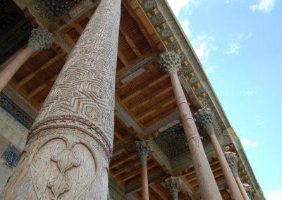 Buchara, Detail der Holzkonstruktion