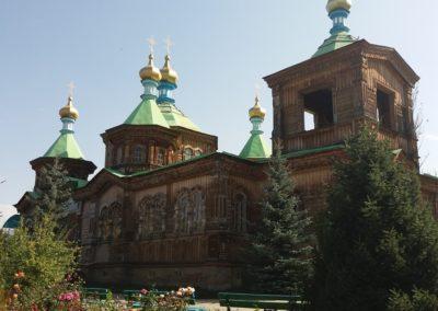 Die russisch orthodoxe Holzkirche in Karakol
