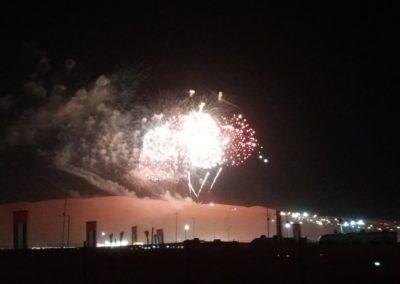 Feuerwerk über den Dünen