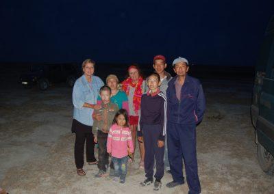 Kasachische Bauernfamilie