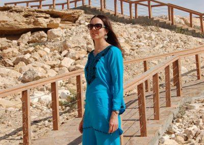 Silvia im Oman