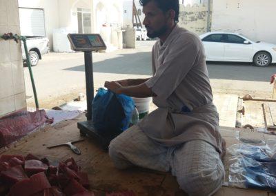 Thunfisch auf dem Markt von Ibra