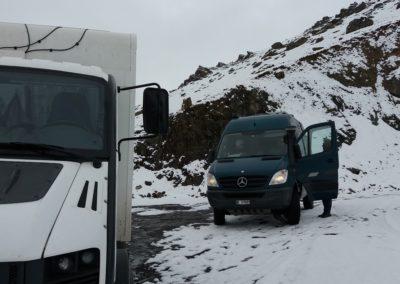 Winterlandschaft auf dem Pass