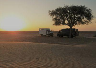 Übernachten in der Wüste