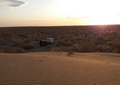 Übernachtung in der turkmenischen Steppe