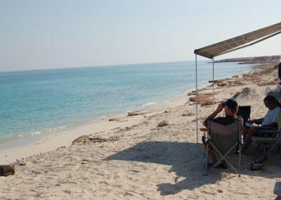 Bammah-Beach, campen direkt am Meer
