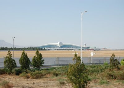 Das Flughafengebäude in Ashgabat
