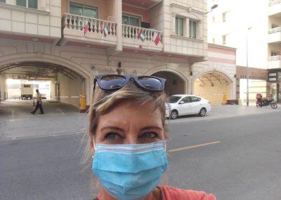 Die Strassen in Dubai sind menschenleer