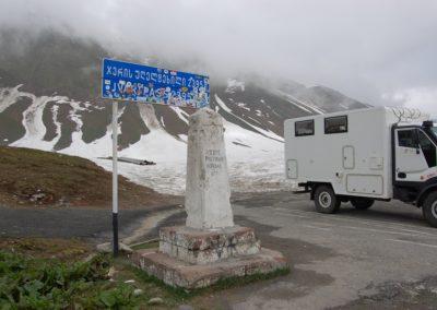 Passhöhe entlang der berühmten Georgischen Heeresstrasse