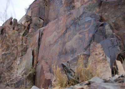 Petroglyphen, Unesco Weltkulturerbe in Kasachstan