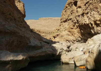 Schwimmen im Wadi Bani Khalid