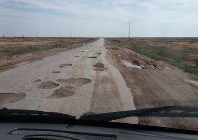 Strassenzustand in Kasachstan