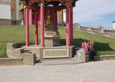 Wer beherrscht die Bewegungen der Buddhastatue?