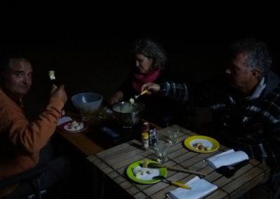 Wir feiern Weihnachten mit einem tollen Fondue, das Karin und Stephan mitgebracht haben